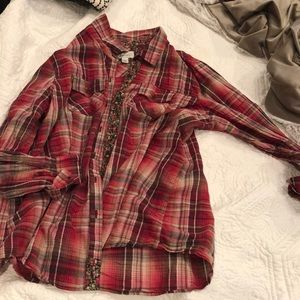 red and brown flannel
